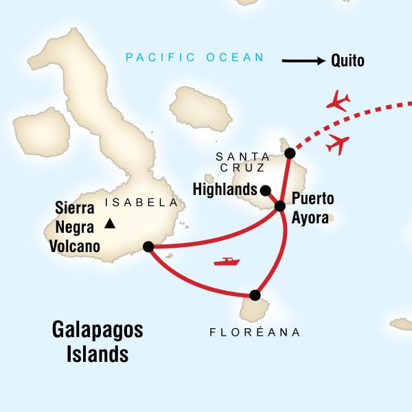Abenteuerreise Route Galápagos Camping Adventure