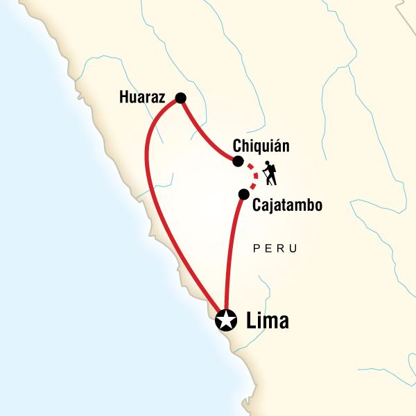 Abenteuerreise Route Trekking the Huayhuash Circuit