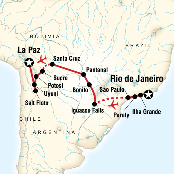 Abenteuerreise Route Atlantic to the Andes Experience