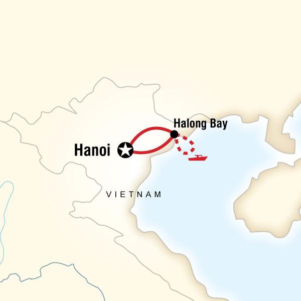 Abenteuerreise Route Hanoi & Halong Bay Experience