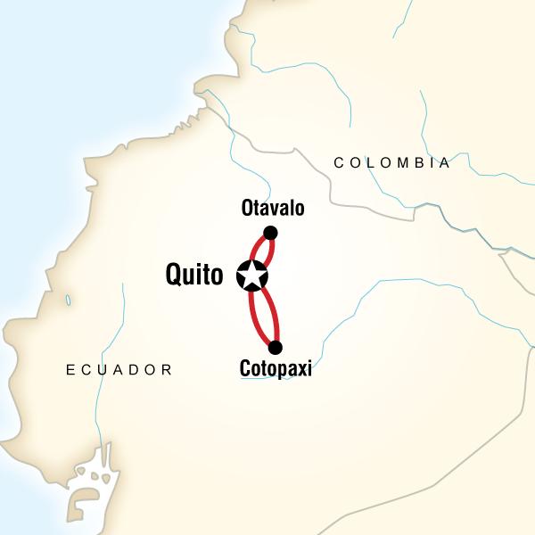 Abenteuerreise Route Otavalo Break