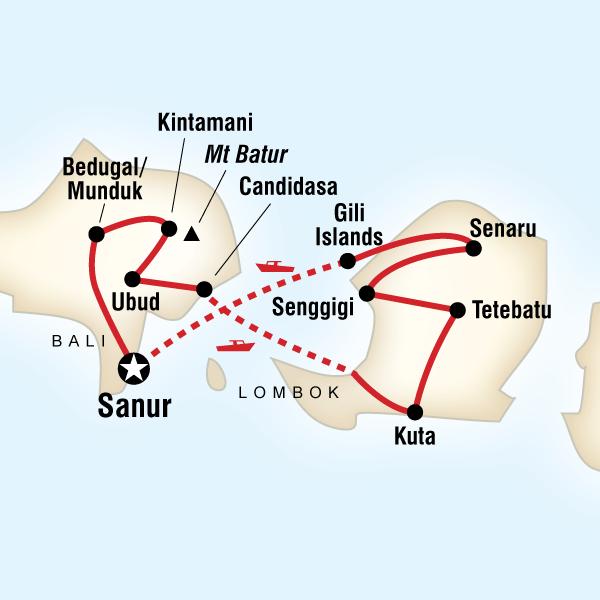 Carte Bali Lombok Gili.G Adventures Classic Bali And Lombok Ga Aess