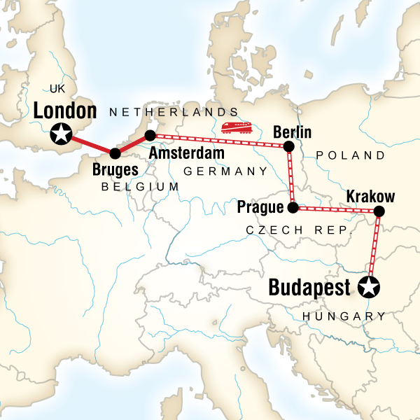 Budapest to London on a Shoestring