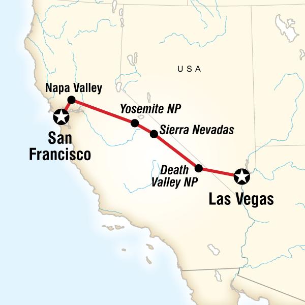 Yosemite Park and Napa Valley – San Francisco to Vegas