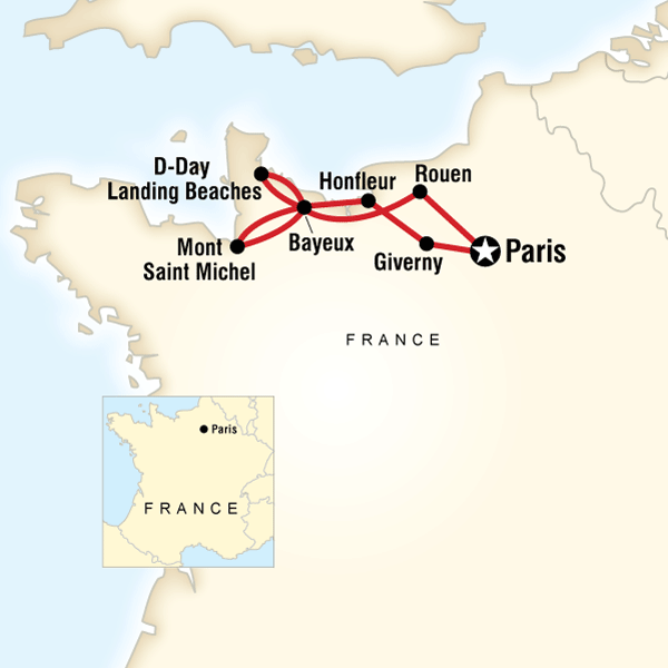 Paris and Normandy Highlights