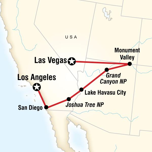 San Diego, Grand Canyon and Vegas