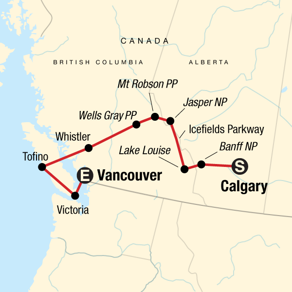 National Parks of the Canadian Rockies Westbound