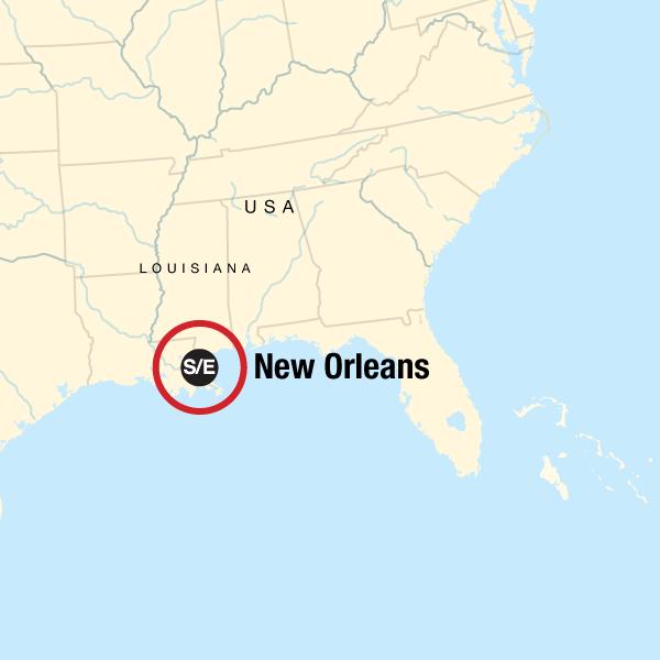 Iconic Mardi Gras New Orleans