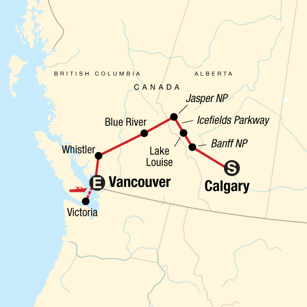 Discover the Canadian Rockies Westbound