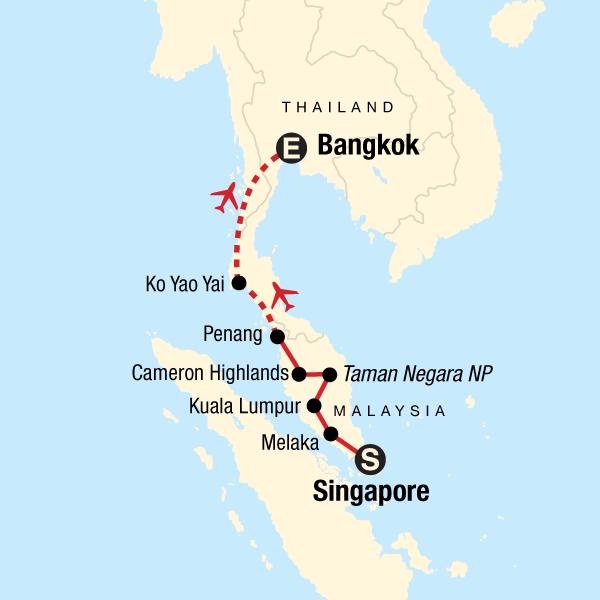 Singapore to Bangkok Journey