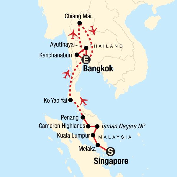 Singapore, Malaysia, and Thailand Explorer