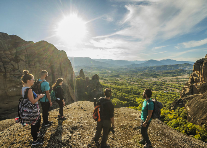hike from Meteora monasteries to all kinds of Greek gorges