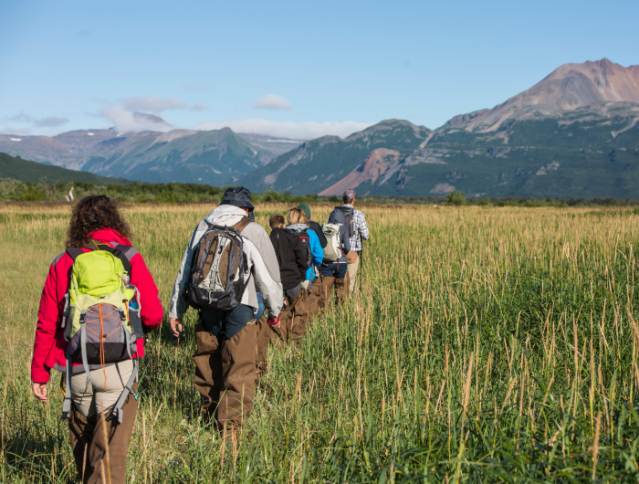 wherever you're hiking in Alaska, it's good to keep an eye out for bears