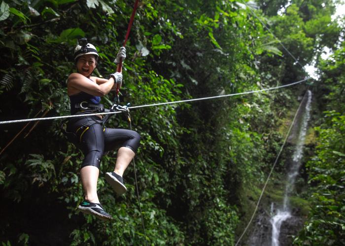 feel free as a bird as you soar through the jungle canopy