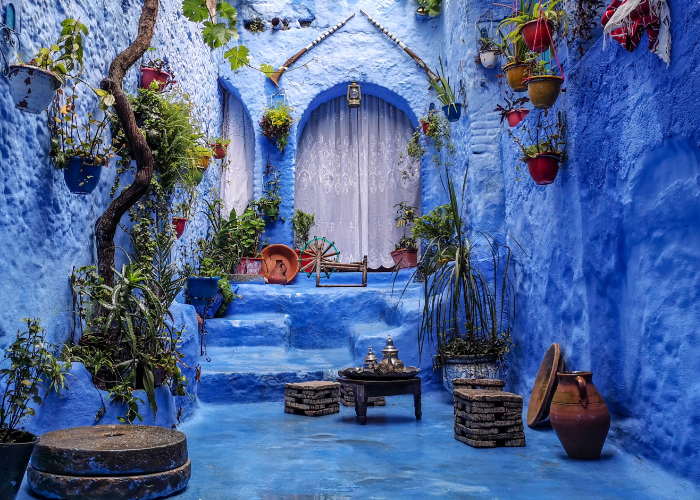 paint the town blue in Chefchaouen