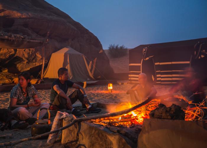 bedouin camp fire