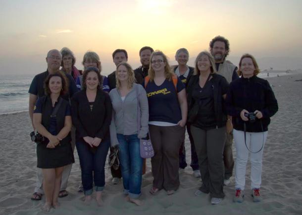 Last group shot in Venice Beach, CA. Pic courtesy of Collette V.