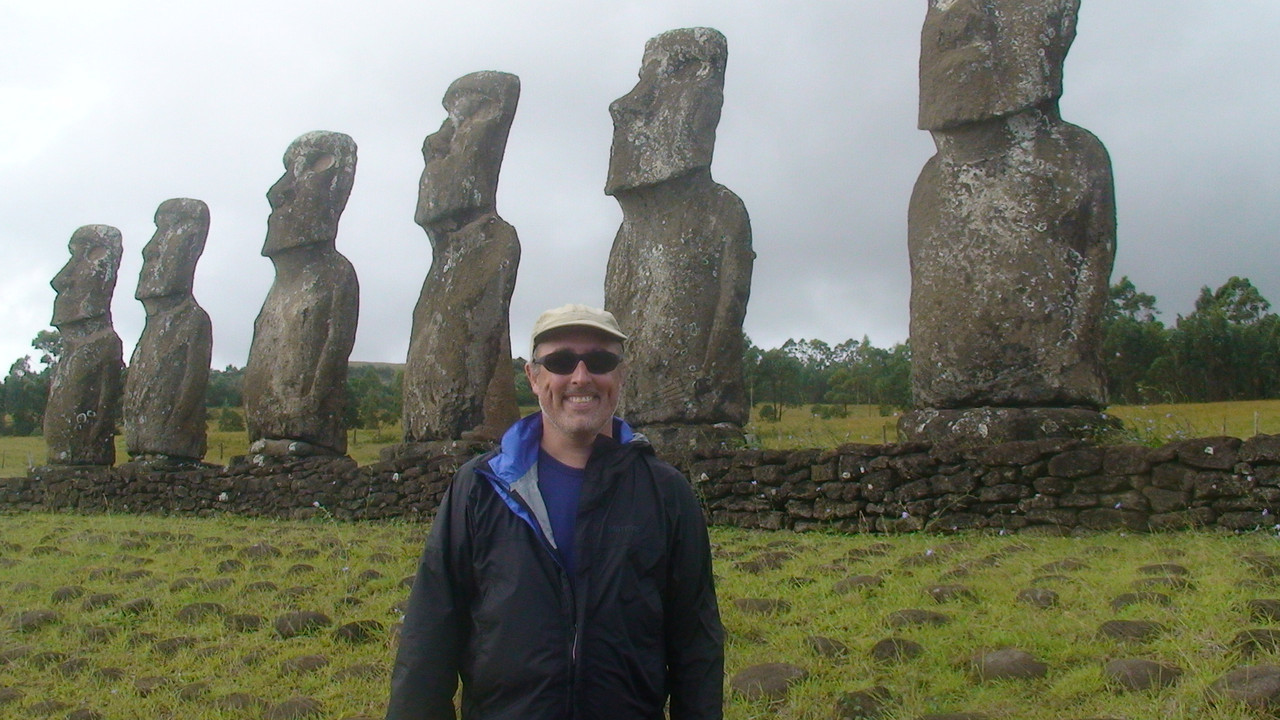Hanging out with some friends at Easter Island.
