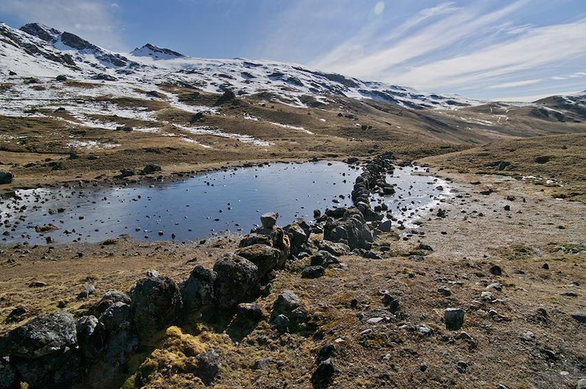 small lake in lares valley.
