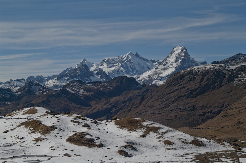 view of snow-capped peaks.