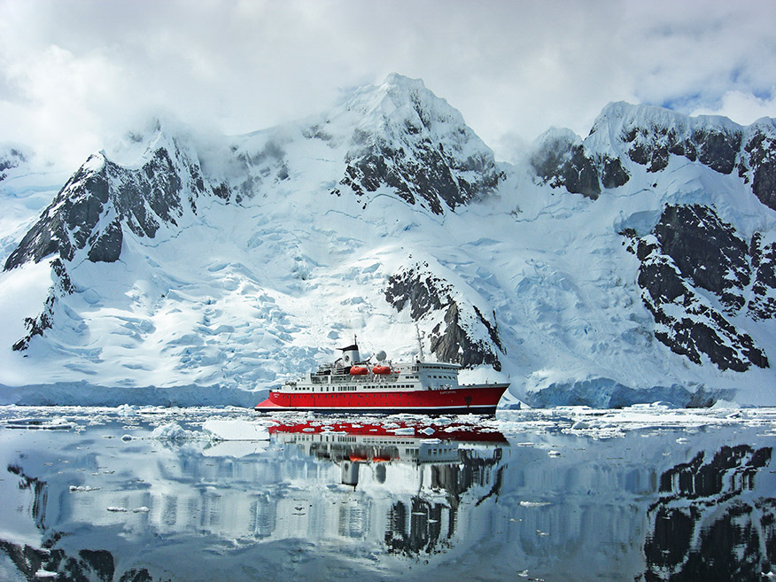 The ship will make its way up the coast of South America after spending the season in Antarctica.