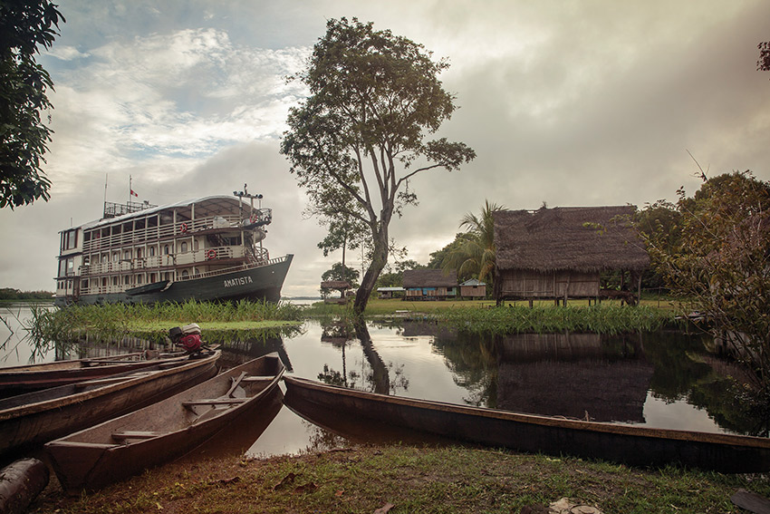 Cruise the mighty Amazon on purpose-built river boat.