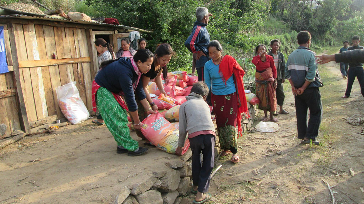 Nepal Relief: Indira & Laxmi are part of SASANE and helped with the relief effort.