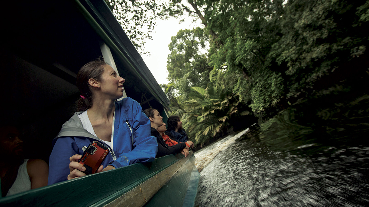 Cruising the canal in Tortuguero National Park, Costa Rica.