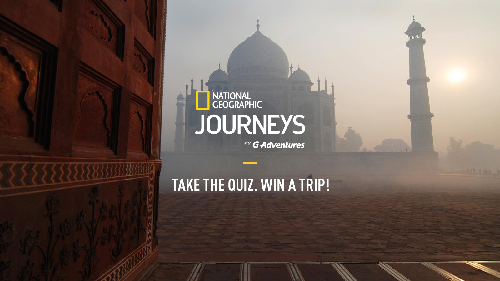 Win a trip for two from National Geographic Journeys with G Adventures!