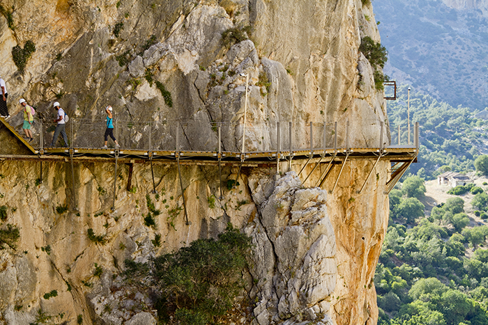 Get your heart pumping on an optional walk at Caminito del Rey — if you dare!