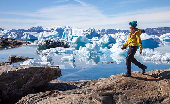 Quietly trek alongside chunks of ice, photo by Bjorgvin Hilmarsson
