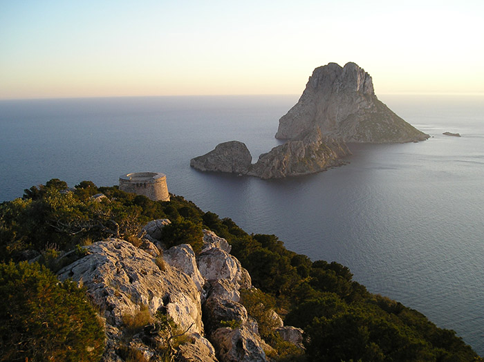 Pull up a lounger after a refreshing hike and wonder about Es Vedra