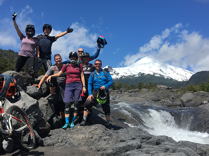 Mountain biking on volcanic terrain in Pucon, the adventure capital of Chile