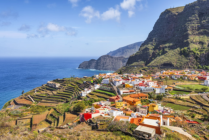 see colourful villages as you cruise the waters around Tenerife, La Gomera and La Palma