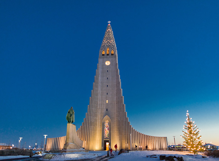 step inside the tallest church in Iceland and get blown away by the sound of its pipes