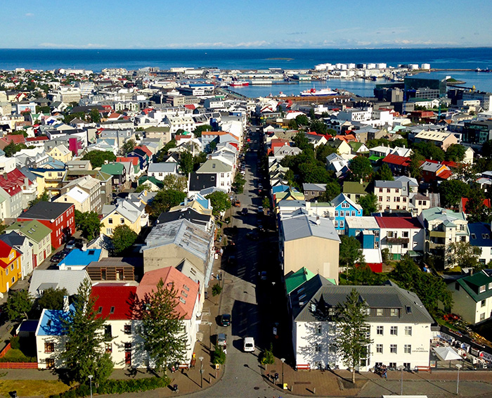 take in a panorama of colourful Icelandic houses from the church top