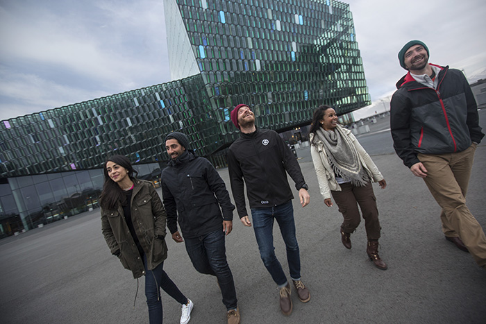 take in the music and cool architecture of HARPA Concert Hall