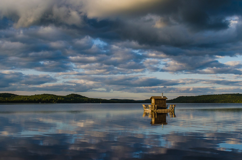 When you are finished with our Algonquin adventures for the day, swim out to this floating sauna on Round Lake for a unique spa experience.