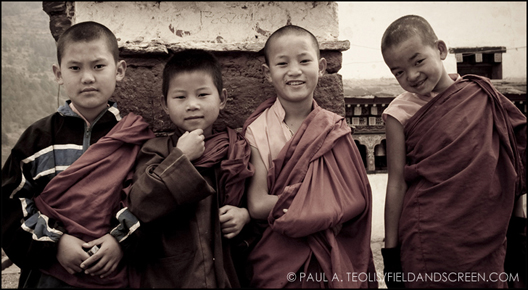 Child monks in Bhutan