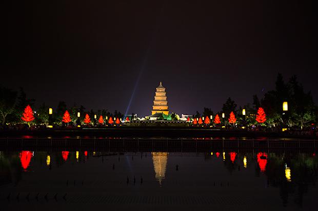 Big Wild Goose Pagoda, Xian, Photo by Attit P.