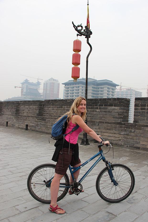 Biking in Xian.