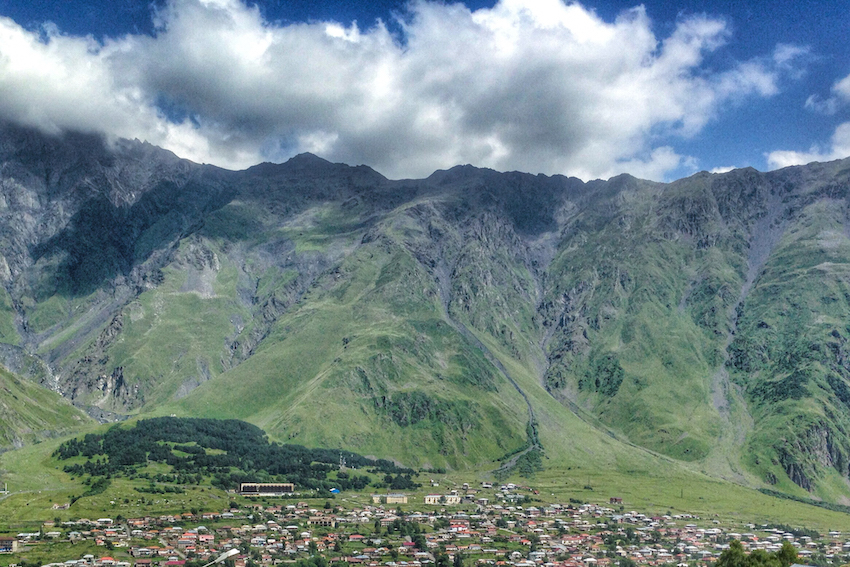 The famous hills of Kazbegi. Photo courtesy Borders of Adventure