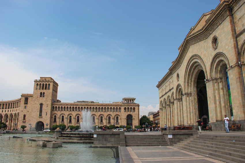 Republic Square in Yerevan. Photo courtesy Borders of Adventure