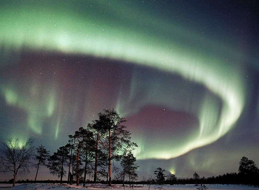 It is said the northern lights can be seen for some 200 nights here. Photo courtesy Visit Finland.