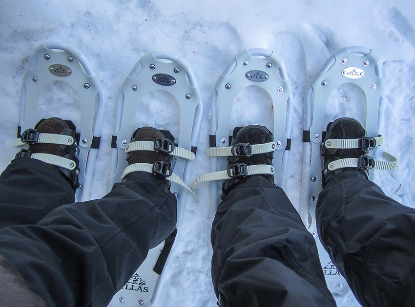 Sink into the snow and walk the wonderland with these handy soles. Photo courtesy Timo.