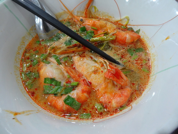 Tom yum kung is best described as an explosion of flavours.
