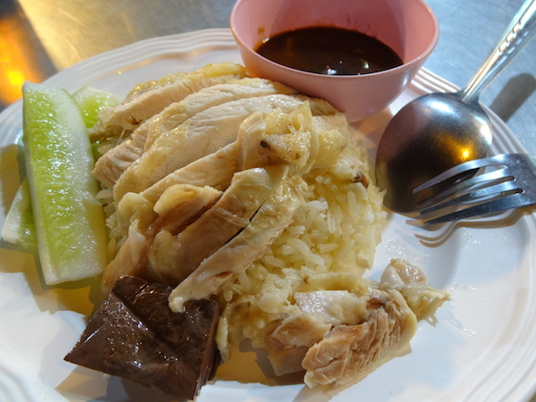 The ever popular chicken rice is addictive.