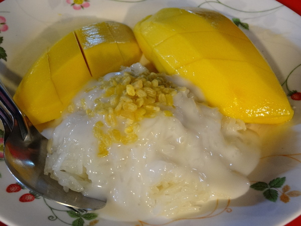 Fall in love with mango sticky rice.