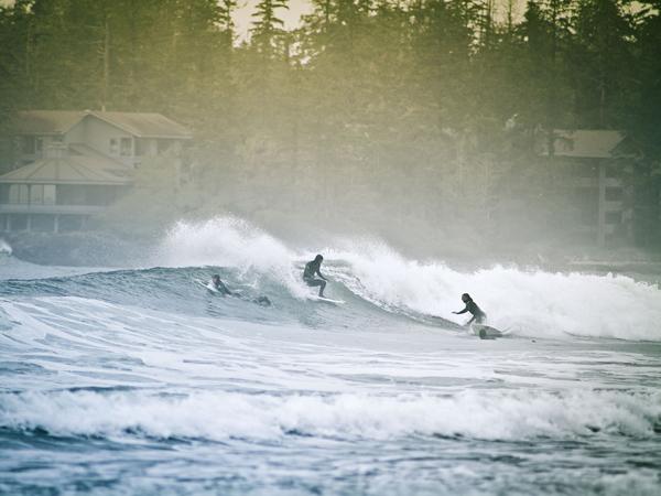 Surfing Tofino. Photo courtesy Tucker Sherman.