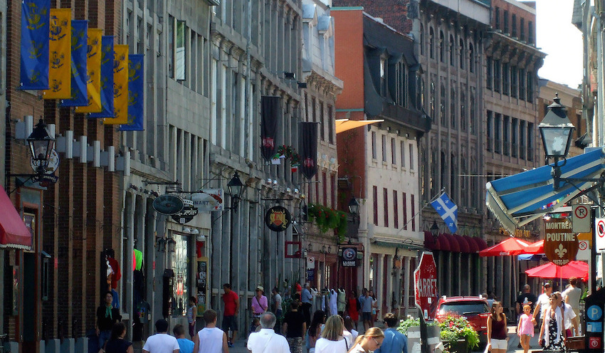 Rue St Paul in Old Montreal. Photo courtesy Black W.
